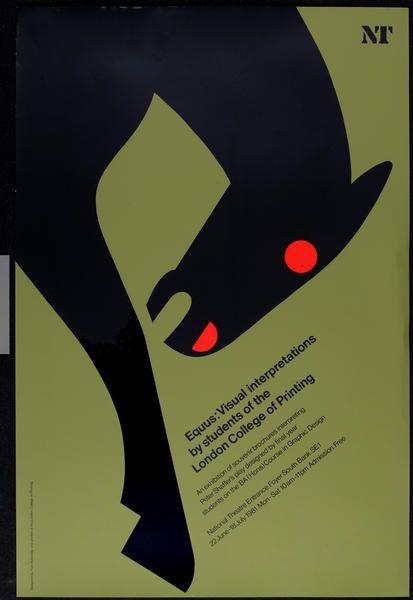 Equus Poster. Tom Eckersley. 1981