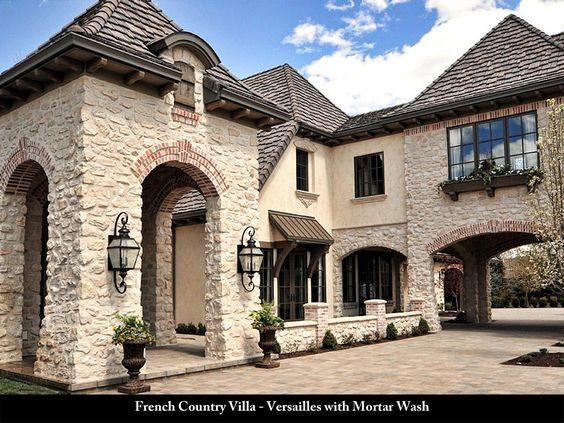 Coronado Stone Products French Country Villa Versailles with mortar wash
