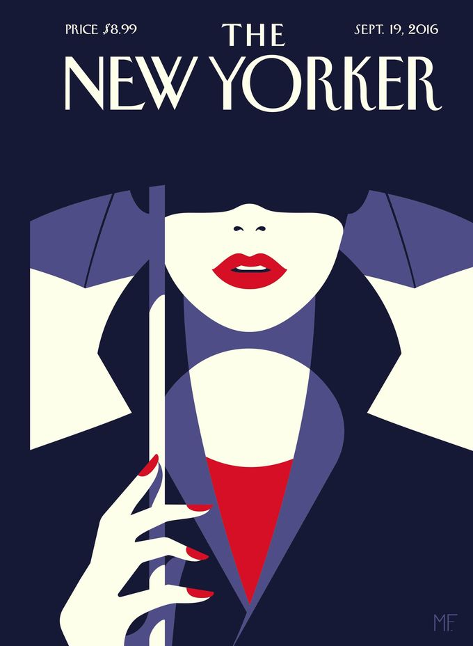 "The New Yorker - Monday, September 19, 2016 - Issue # 4655 - Vol. 92 - N° 29 - « The Style Issue » - Cover ""In the Shade"" by Malika Favre"