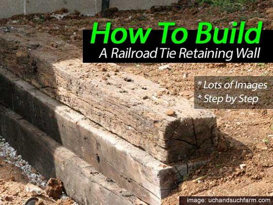 采取一些铁路领带,钢筋和砾石,并且您拥有建造简单挡土墙的所有材料,就像Such and Such Farms所做的那样。对所有人来说幸运的是,他们还记录了所有主要步骤,并附有一些精彩的图片。整个项目相对比较简单,只需要很少的专用工具,比如螺旋钻头,大钻头和一些重锤。详情请见:搭建铁路领带挡土墙