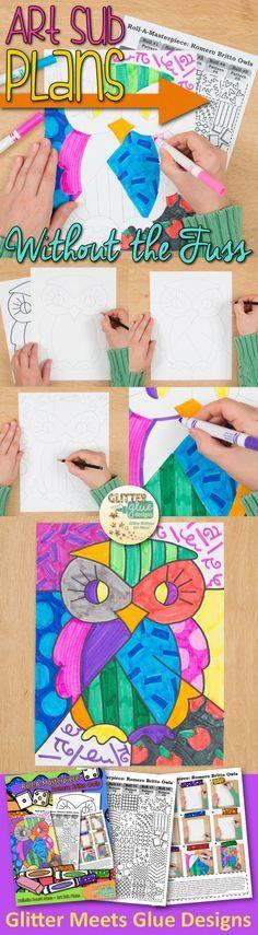 罗梅罗布里托是一个与孩子们打!看看这个有趣的艺术史游戏设计波普艺术猫头鹰。适合回到学校,你的学生会喜欢它!