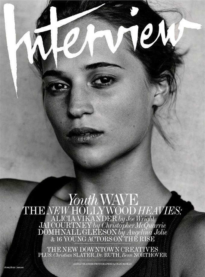 Alicia Vikander on Interview Magazine June-July 2015 cover