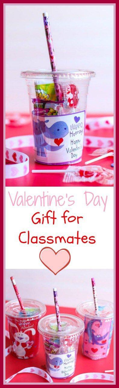 这些容易制作的杯子是学生们最可爱,最甜蜜的DIY情人节礼物。他们还为您的孩子制作了很棒的情人节礼物给同学。