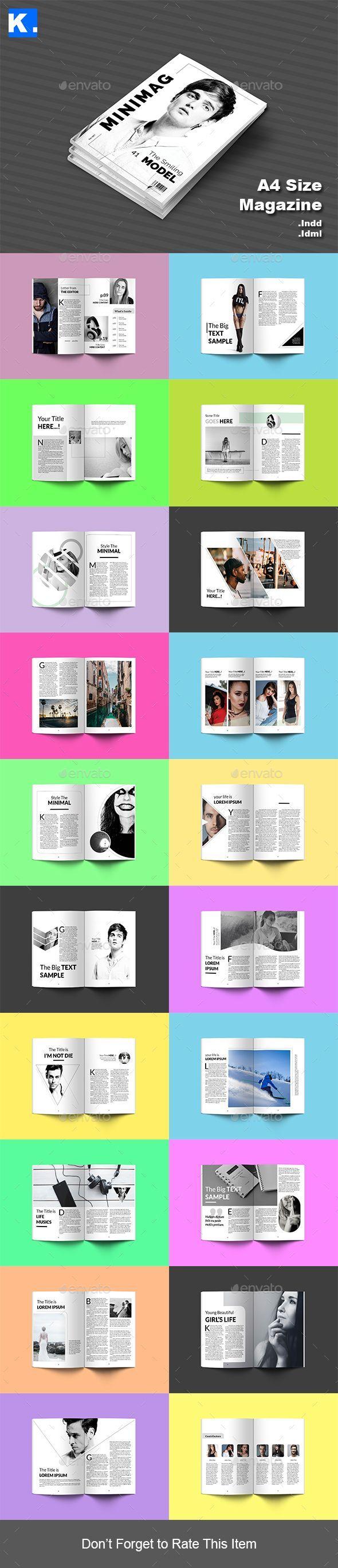 Indesign Magazine Template 3 - Magazines Print Templates