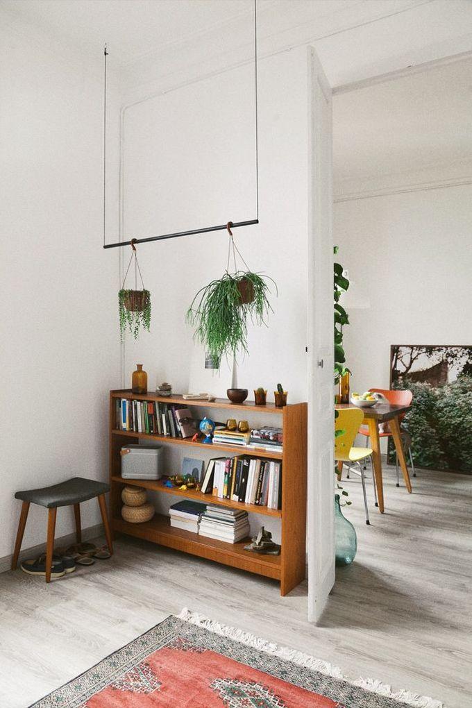 植物吊架。
