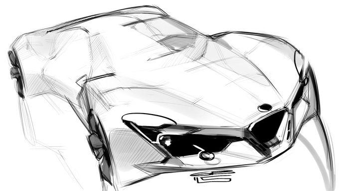 Behance上的汽车设计草图#6