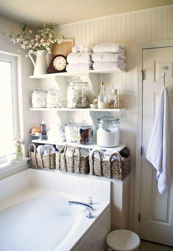 美丽的农舍浴室改造装饰理念(77)