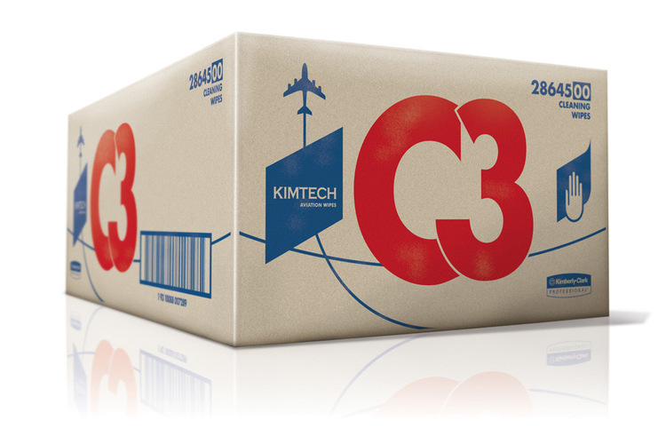 Kimtech Aviation Wipes (Redesign) | Packaging of the World: Creative Package Design Archive and Gallery