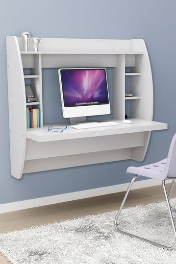 great desk for a small space, comes in black too! $207 #17holiday