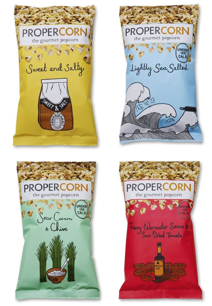 PROPERCORN : /////ZOE MORE O'FERRALL cool popcorn #packaging and flavors PD