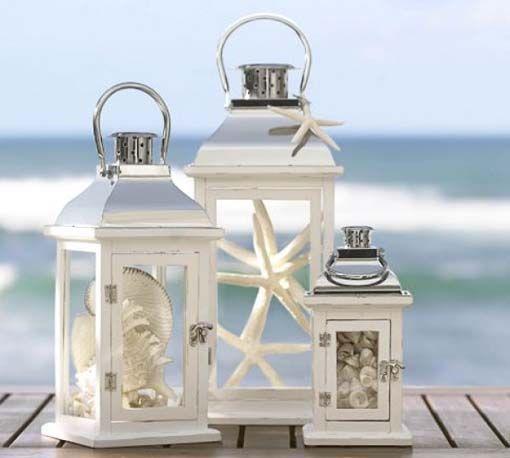 灯笼#Wedding #Centerpieces |婚礼中心灯笼应用海滩婚礼中心......