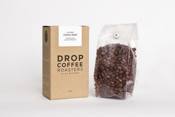 #packaging #coffee #carton #sticker #typography #drawings –– Drop Coffee Roasters