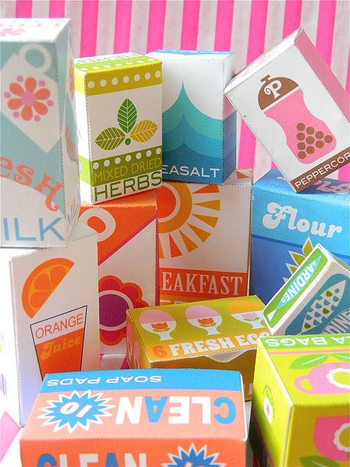 儿童可打印包装玩厨房!