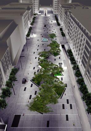 #landarch #urbandesign Plaza de Dali is designed by architect Francisco Mangado. Center of Madrid city.