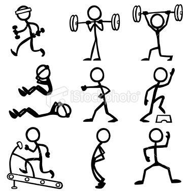 棒图做与健身有关的活动。