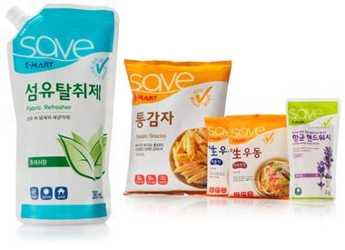 E-Mart Save private label snack packaging