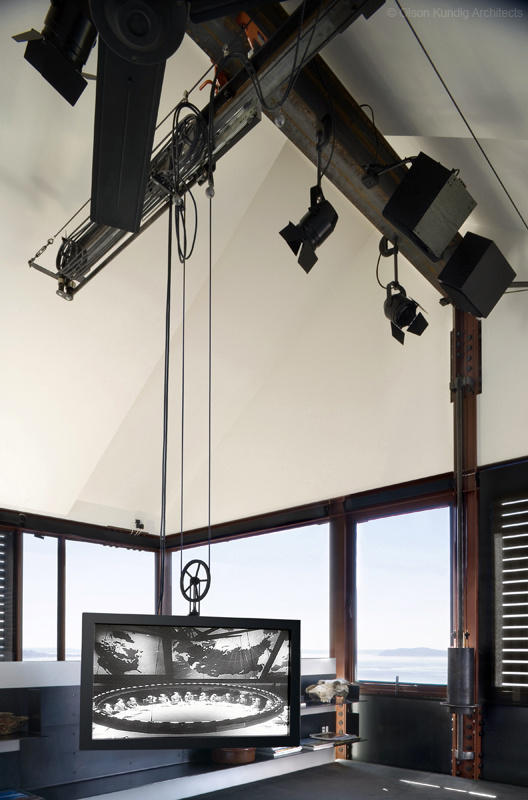 motorized TV hoist in Tom Kundig's personal residence