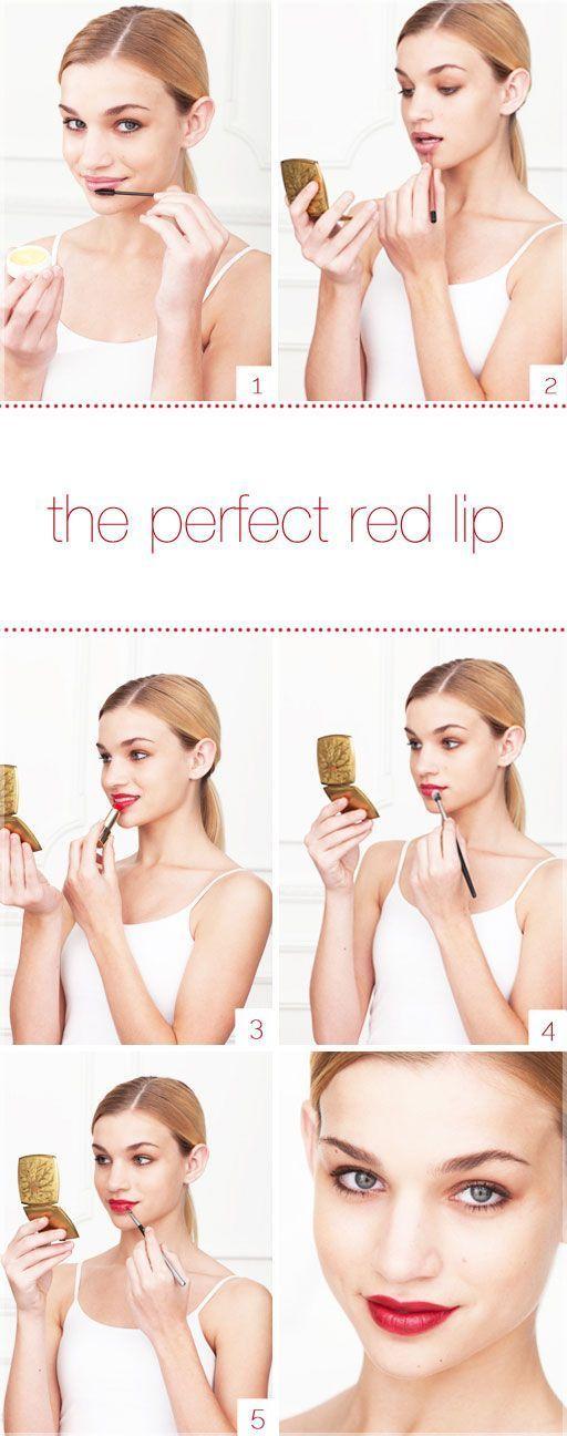 如何打造完美的红唇!