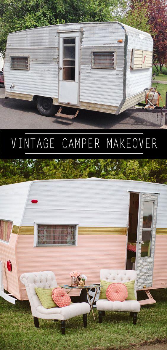 这一次,我正在做我的DIY Vintage Camper Makeover系列的第一部分。让我告诉你如何用风格画一个老式露营车。请享用!