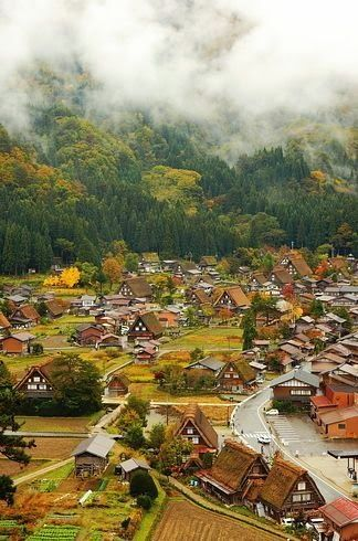Shirakawa, Japan. It reminds me of a small village I've seen in Feudal anime shows, like Inyuyasha or Princess Monoke.
