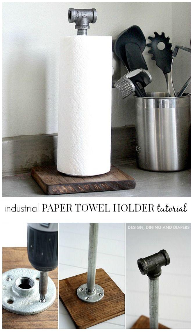 DIY工业纸巾架教程
