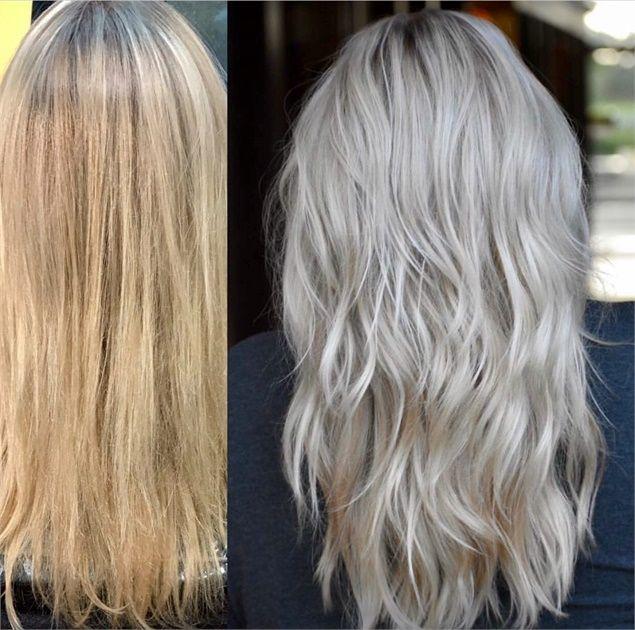 颜色转换:温暖到凉爽的金发 - 头发颜色 - 现代沙龙