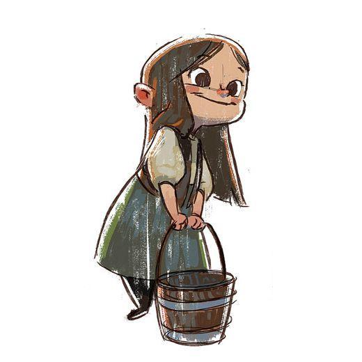 """Gretel"" character study by Ryan Lang*  - Blog/Website   (www.ryanlangdraws.tumblr.com)"