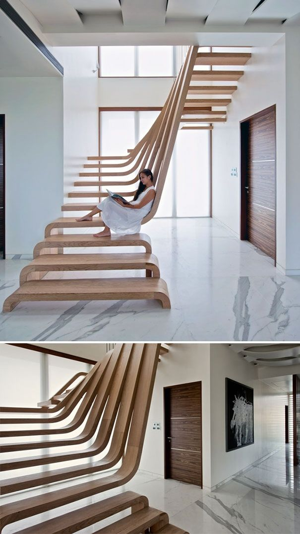 22 Very Unique Staircases. All crazy. Wouldn't do any though, except maybe the 4th!! (Tree) ♥