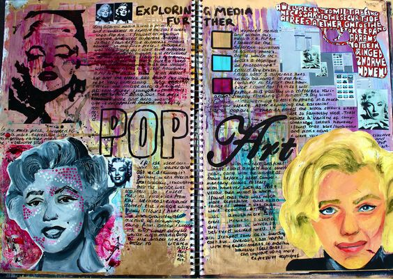 从传统波普艺术技术中寻找灵感,为玛丽莲梦露打造最终结构。这是页面让我也可以看看波普艺术中的不同方面,并使用组合的颜色来创建视觉大型。