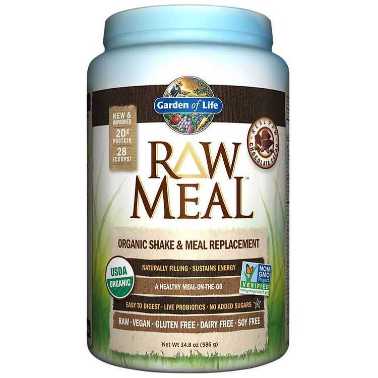 Garden of Life Raw Meal organic shake meal resplament