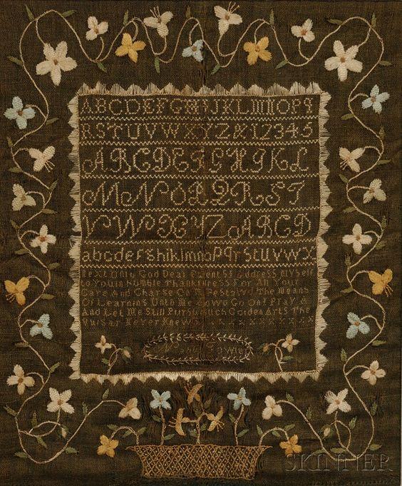 """据报道,""""Nabby Fowler""""是马萨诸塞州埃塞克斯郡的Salem,c。 1805年,用丝线缝合在linsey-woolsey g ..."""