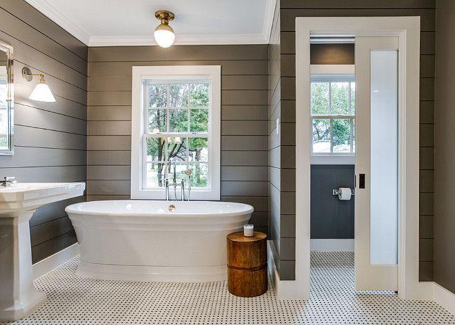 搭叠墙壁,深灰色,白色黑色和白色basketweave瓷砖