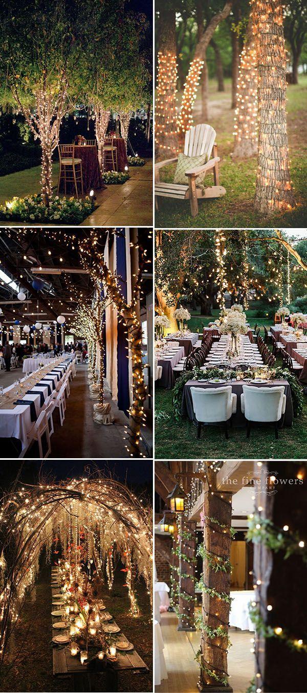 与树的婚礼装饰想法