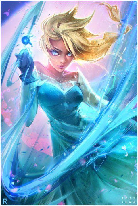 As personagens femininas de mundos de fantasia reimaginadas por Ross Tran