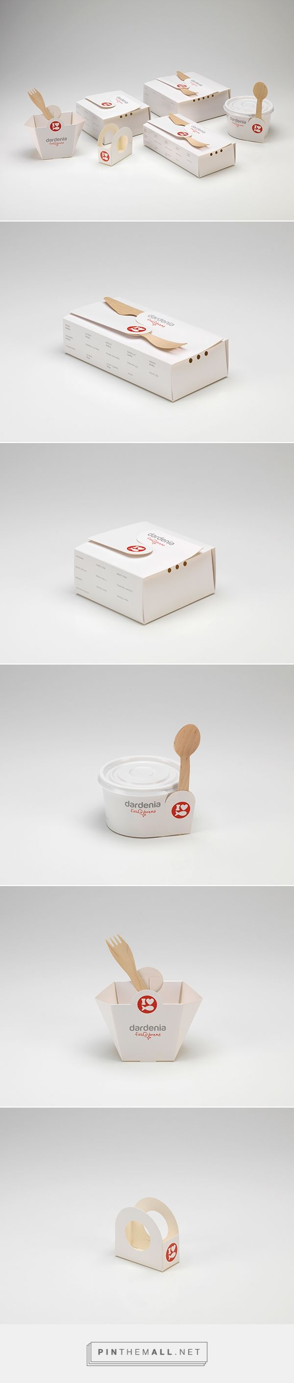 DARDENIA food boxes on Behance by Ypsilon Tasarim curated by Packaging Diva PD. Packaging designed to be foldable to enable a space-saving storage in the restaurant.