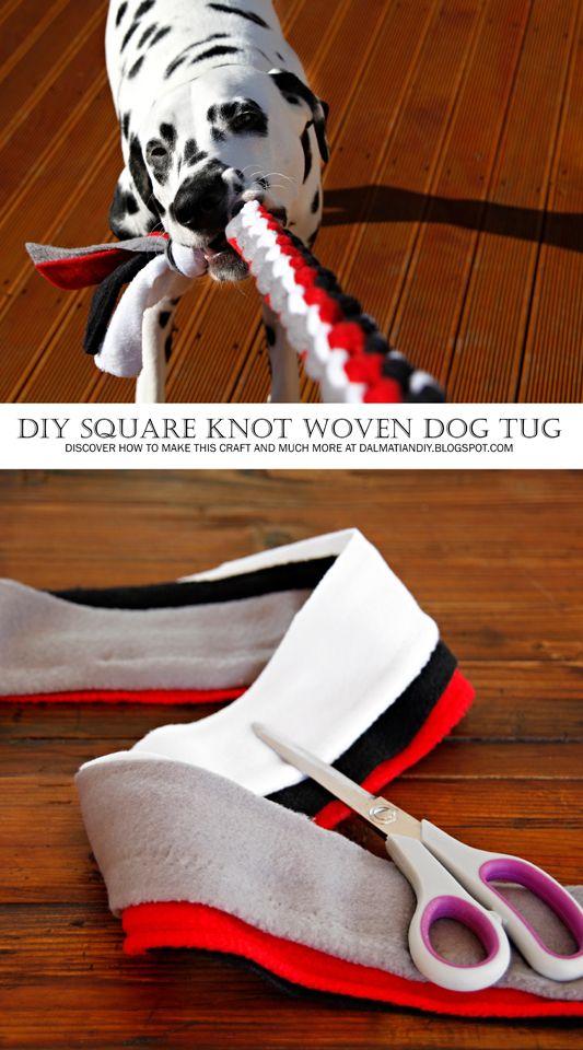 如何编织方形结拖轮狗玩具(包括DIY说明,图片和图表)