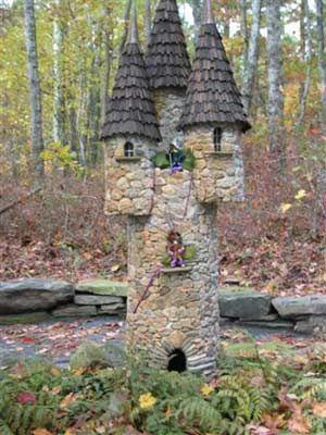 Diy微型石头房子为美丽的花园 - 做它自己样品