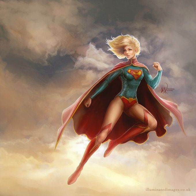 Supergirl by me-illuminated on @DeviantArt