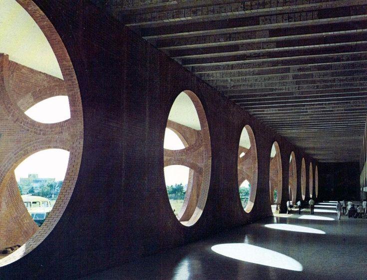 Dhaka, Bangladesh | Louis Kahn | photo by Anwar Hosain