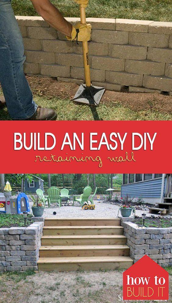 建造挡土墙很难,但我的挡土墙想法和DIY挡土墙项目的教程将使它更容易!