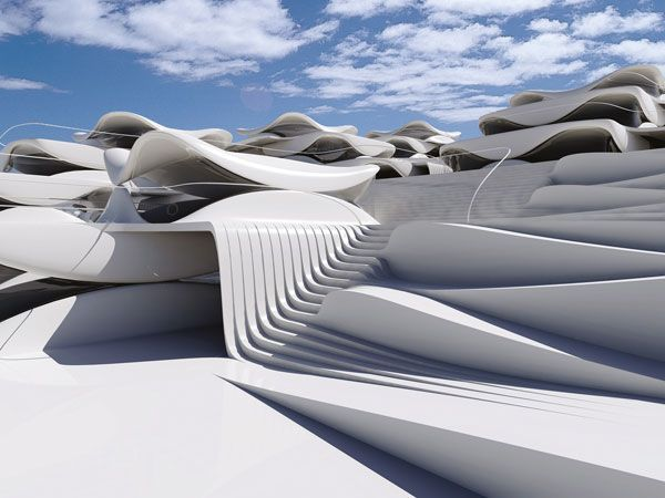 Homes Stacked Like Seashells Could Shape The City Of Tomorrow. Futuristic Architecture. Digital Constructive Shell by Ofir Menachem