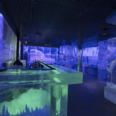 Ice Bar, London: The Ice Bar is a permanent ice bar fixture in London where the walls, bar, tables and even your own personal glass are made from Torne River ice - harvested from the pristine winter wonderland of Jukkasjarvi in Northern Sweden.