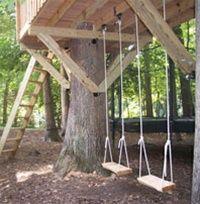 计划一棵由两棵树支撑的8'x 12'树屋。查看我们的配套硬件套件! 8'x12'矩形套件