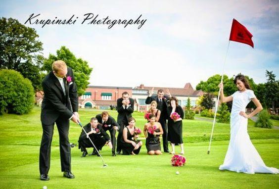 婚礼摄影。高尔夫球场婚礼图片。