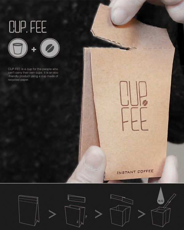 Eco-friendly disposable coffee cups by designers Jo Sae Bom and Jeong Lan allow you to enjoy your morning cup without feeling guilty about the effect you're having on the earth. The only taste left in your mouth will be from the coffee -- not the cup -- and a tear-off stirrer is even included. Everything is fully recyclable, learn more by clicking here!