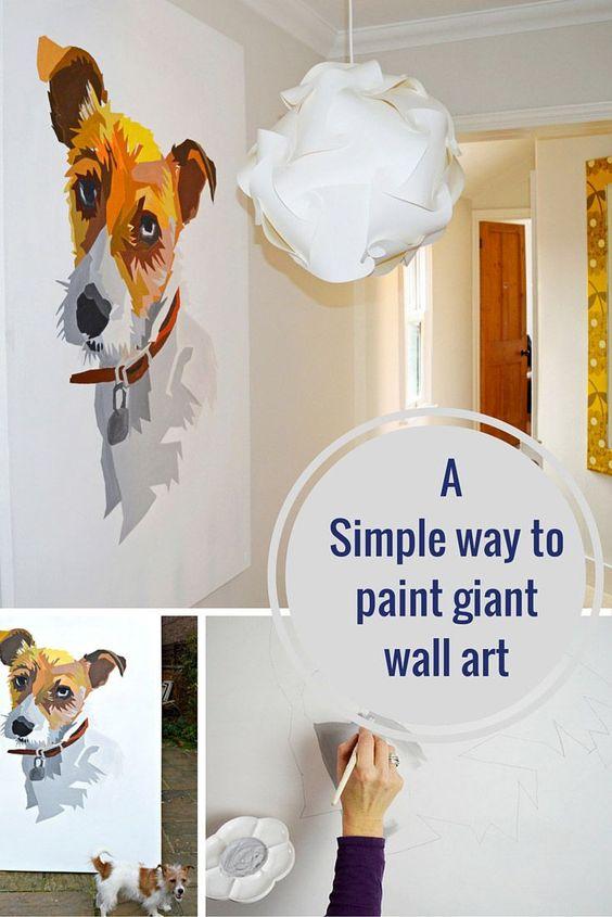 那么你认为创建自己的巨型墙面艺术会容易得多。在这里,我向你展示创建自己的神话般的个人墙艺术是多么容易。