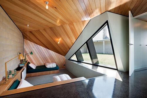 This is somewhat look likes triangle room because of all the weird angle wall and the triangle window.