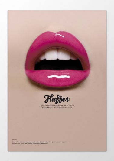 Sopa – Poster for the play Fluffer, a biography of Sascha Grey.