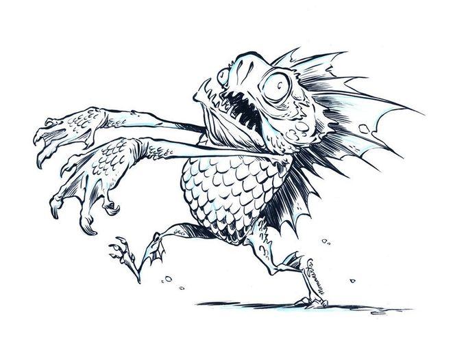 Inktober Gill-Man #15 by RobbVision on deviantART
