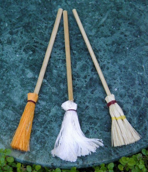 微型玩具屋仙女花园配件3套拖把扫帚新|易趣